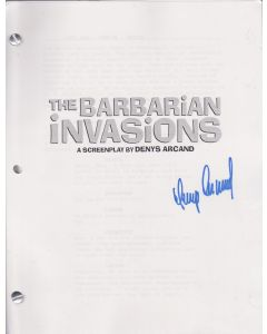 Barbarian Invasion script signed by Denys Arcand