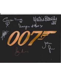 James Bond 007 Cast of 6 including Roger Moore