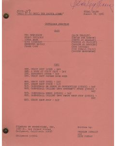 """Petticoat Junction """"What To Do Until the Doctor Comes"""" original script autographed and hand annotated by Linda Kaye Henning"""