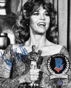 Jane Fonda 8X10 photo w/Beckett COA #2