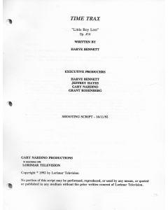 "Time Trax ""Little Boy Lost"" 1992 Original Script"
