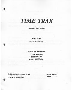 "Time Trax ""Darien Comes Home"" 1992 Original Script"