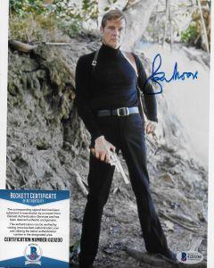 Sir Roger Moore (1927-2017) Bond 007 8X10 with Beckett COA #3
