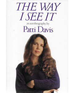 The Way I See It BOOK signed by author Patti Davis (personalized to John)