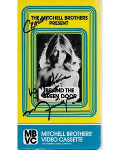 Behind the Green Door VHS signed by Marilyn Chambers (personalized to Craig)