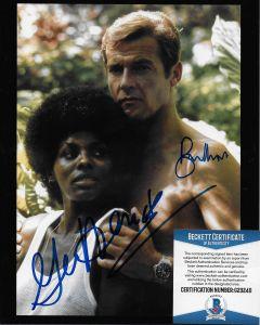 Sir Roger Moore (1927-2017) Bond 007 8X10 with Beckett COA #5