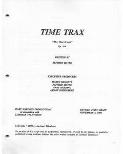 "Time Trax ""The Hurricane"" 1992 Original Script"