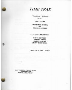 "Time Trax ""The Price of Honor"" 1992 Original Script"
