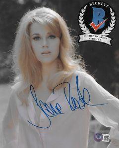 Jane Fonda 8X10 photo w/Beckett COA #6