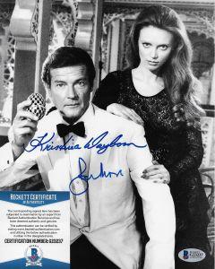 Sir Roger Moore & Kristina Wayborn Bond 007 8X10 w/ Beckett COA #7