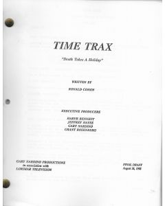 """Time Trax """"Death Takes a Holiday"""" 1992 Original Script"""