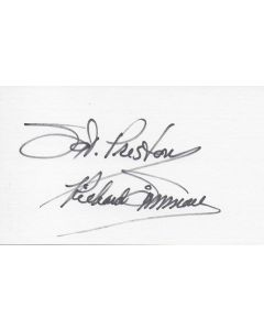 Dick Simmons (1937-2015) signed index card - Sergeant Preston