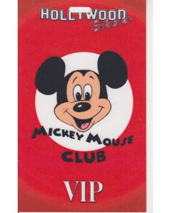 Limited Edition Hollywood Show VIP Pass Mickey Mouse Club