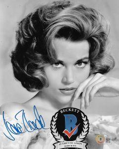 Jane Fonda 8X10 photo w/Beckett COA #8