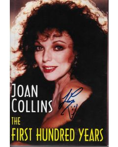 Joan Collins First Hundred Years Tonight Show PROP BOOK signed by Jay Leno