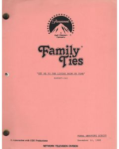 """Family Ties """"Get Me To The Living Room On Time"""" 1988 Original Script"""