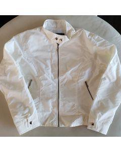 """13 going on 30""  (womens nylon cream jacket) Medium PROMO 1"