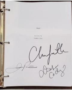 Tully original script autographed by Charlize Theron, Jason Reitman, Diablo Cody