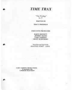 "Time Trax ""The Prodigy"" 1992 Original Script"