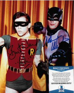 Adam West & Burt Ward Batman with Beckett COA #2