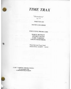 "Time Trax ""Showdown"" 1992 Original Script"