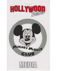 Limited Edition Hollywood Show Media Pass Mickey Mouse Club