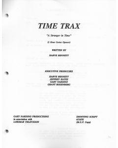 """Time Trax """"A Stranger in Time"""" 1992 Original Script"""
