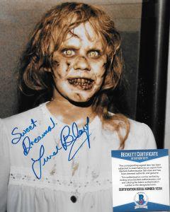 Linda Blair The Exorcist 8X10 w/Beckett COA #2