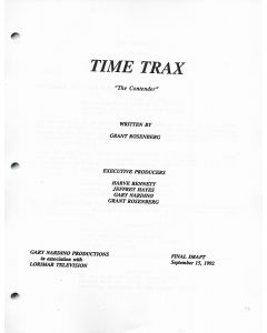 "Time Trax ""The Contender"" 1992 Original Script"
