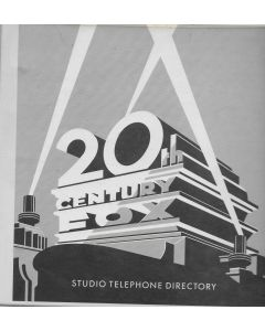 20th Century Fox 1991 Studio Telephone Directory