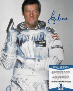 Sir Roger Moore (1927-2017) Bond 007 8X10 with Beckett COA #11
