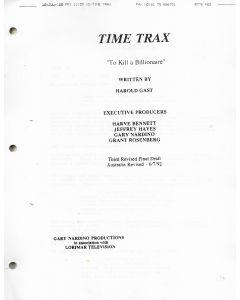 "Time Trax ""To Kill A Billionaire"" 1992 Original Script"