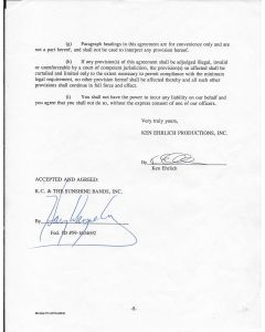 Ricky Nelson (1940-1985) signed contract