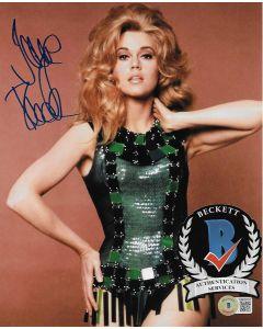 Jane Fonda Barbarella 8X10 photo w/Beckett COA