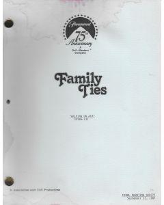 "Family Ties ""Walking on Air"" 1987 Original Script"