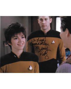 Amy Pietz Star Trek 8X10 (Personalized to Leigh Cashdollar)