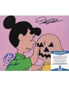 Pamelyn Ferdin Peter Robbins Charlie Brown Peanuts 8X10 w/Beckett COA