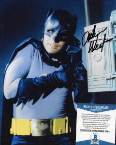 Adam West Batman Beckett 24 Fred Wostbrock Collection