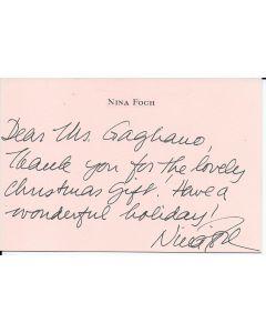 Nina Foch signed letter w/envelope
