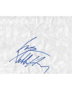 Debbie Harry (Blondie) original autographed folded 8X10 paper