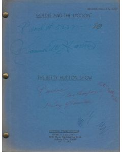 """The Betty Hutton Show """"Goldie and the Tycoon"""" 1959 Original Script"""