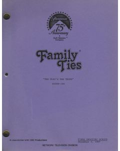 """Family Ties """"The Play's the Thing"""" 1987 Original Script"""