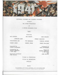 1941 Steven Spielberg press kit (1979)