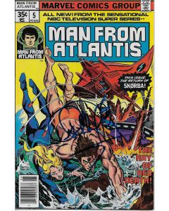 Man From Atlantis comic book signed by Patrick Duffy #5