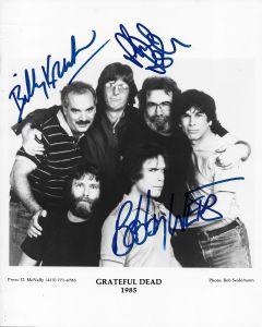 Grateful Dead 8X10 (signed by Bob Weir, Bill Kreutzmann, Phil Lesh)
