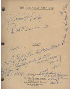 """The Betty Hutton Show """"Jenny"""" 1959 Original Script"""
