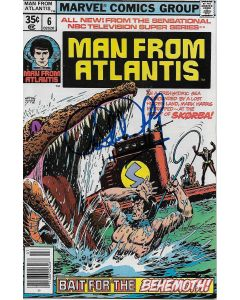Man From Atlantis comic book signed by Patrick Duffy #6