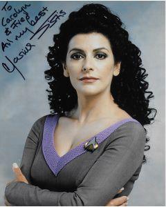 Marina Sirtis Star Trek 8X10 (Personalized to Carolyn & Fred)