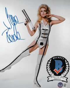 Jane Fonda Barbarella 8X10 photo w/Beckett COA 3