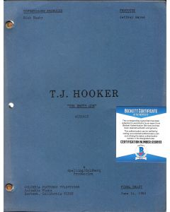 "TJ Hooker ""The Empty Gun"" original script autographed by William Shatner w/ Beckett COA"